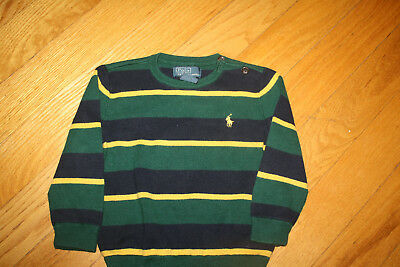 Ralph Lauren Polo Boys striped crew cotton Sweater size 24M