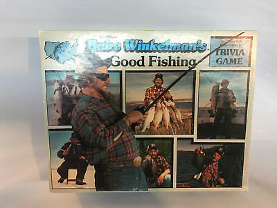 Vtg 1986 Babe Winkelman's Good Fishing Trivia Board Game Fisherman Complete EX