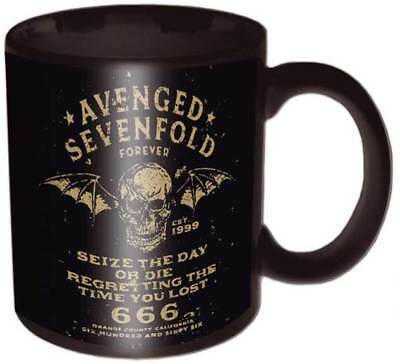 Brand New  Avenged Sevenfold Seize The Day  Official Boxed Ceramic Coffee Mug
