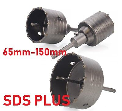 65-150mm TCT CORE DRILL SHANK TUNGSTEN MASONRY BRICK HOLE CUTTER SDS+ SDS PLUS