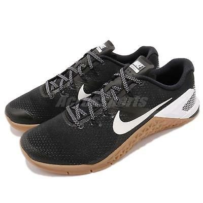 96bc0d28e62e75 Nike Metcon 4 IV Black White Gum Men Cross Training Shoes Sneakers AH7453- 006