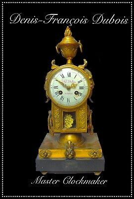 Fine Louis XV ormolu clock circa 1770, the dial signed D. F. Dubois a Paris