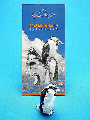 Signed One Of A Kind Hoglund Art Glass Crystal Small Penguin New Zealand XLNT
