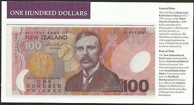New Zealand 2004 polymer issue $5-$100 w/ matching low serial no. 617 in folder!