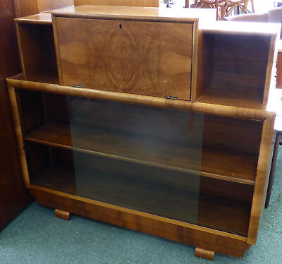 Art Deco Lockable Drinks Cabinet With Key