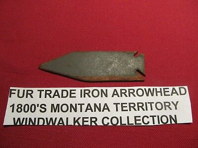 old  Trade era  iron Arrowhead from  Coulson during the  Montana Frontier
