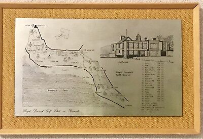 Vintage Hand Craft Stainless Steel Picture Royal Dornoch Golf Clubhouse Scotland