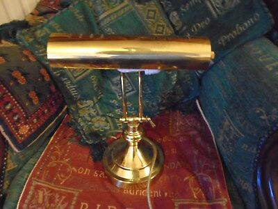 BRASS 1930s STYLE BANKERS DESK LAMP