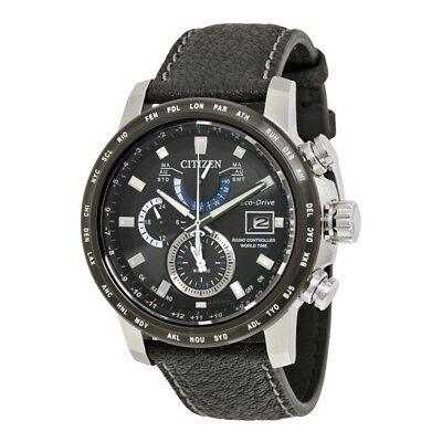 Citizen Eco Drive Men's Aromic Chronograph World Time 44mm Watch AT 9071-07E