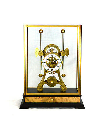 8 Day English Harrison H1 Style Grasshopper Escapement Double Pendulum Sea Clock