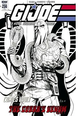 GI JOE A REAL AMERICAN HERO #256 b/w Variant Cobra Commander 9/12