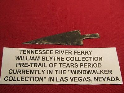 """4"""" Fur Trade  iron Arrowhead from Tenneessee River  Blythes Ferry Meigs County"""