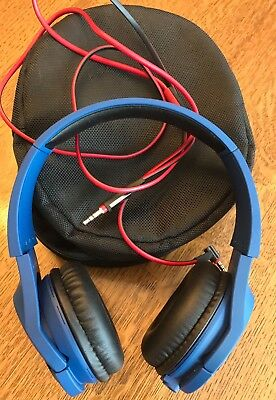 Pioneer Over Ear Matte Blue Headphones SE-MX7-L With Case and Original Box