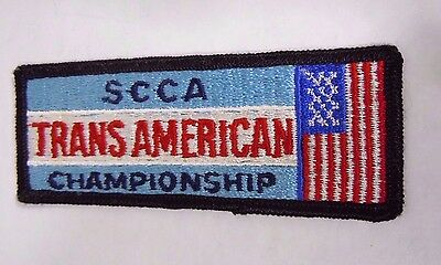 "Vintage SCCA Trans-Am Championship Embroidered  Iron-On Patch 4"" Road Racing"