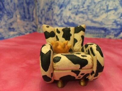 Take a Seat Cow c. 1998 by Raine and Willitts Designs Rare Miniature Chair