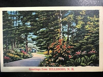 Vintage Postcard>1941>Greetings from Hillsboro>New Hampshire