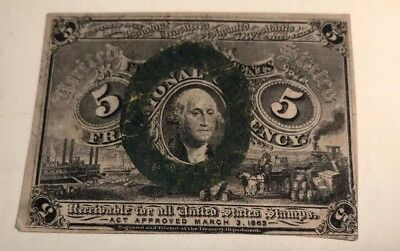 Five Cents Fractional Currency, Act Approved March 3, 1863