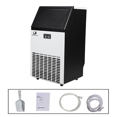 Stainless Steel Commercial Ice Maker 100lb/24hr Home Use Portable Free Stand US
