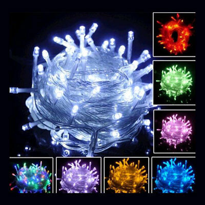USA 110V 10M 100 LED Fairy Party String Light Garden Xmas Waterproof Decor Lamp