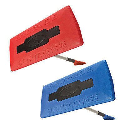 Snow Joe SJBLZD 2-Pack Jumbo Telescoping Snow Broom + Ice Scraper, Blue/Red