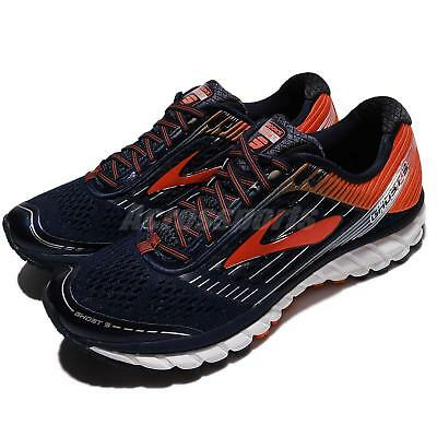 ea90de871b88 Brooks Ghost 9 IX Black Orange Red Men Running Shoes Sneakers Runners  110233 1D