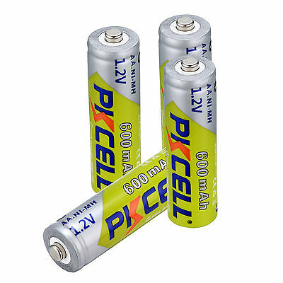 8PCS PKCELL 1.2V AA 600mah Batteries Ni-MH Rechargeable Battery