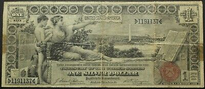 1896 $1 One Dollar Educational Silver Certificate Note - FR#224