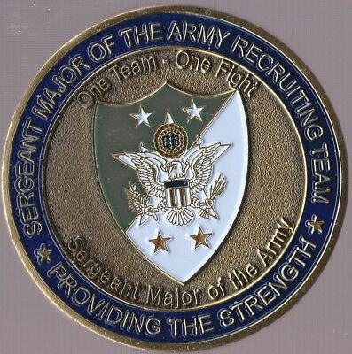 "Sergeant Major of The Army Recruiting Team  Challenge Coin 1.75""DIA"