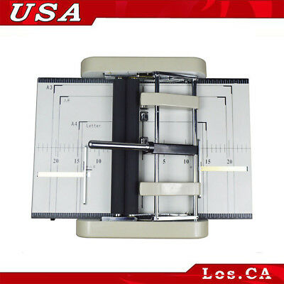 110V Automatic Booklet Maker Book Folding Machine with Dual Adjustable Side