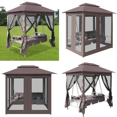 2 Persons Patio Swing Chair Gazebo Canopy Daybed Hammock Tent Outdoor Furniture