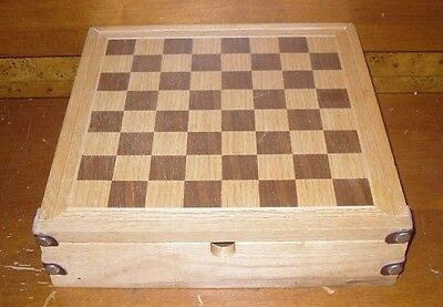 Wooden 3 in 1 Travel Combination Game Set Chess Checkers Backgammon (NO Chess)