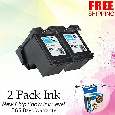 2PK 63XL Black Ink Cartridge For HP ENVY 4512 4513 4520 4523 OfficeJet 3830 4650