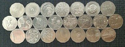Australian 50 Cent Commemorative Issue Coins  FULL SET 22 Coins 1970 - 2019