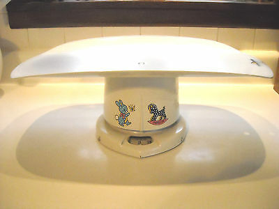 Old Counselor 25 lb White Metal Baby Scale w Cover Brearley Co Orig Label Works