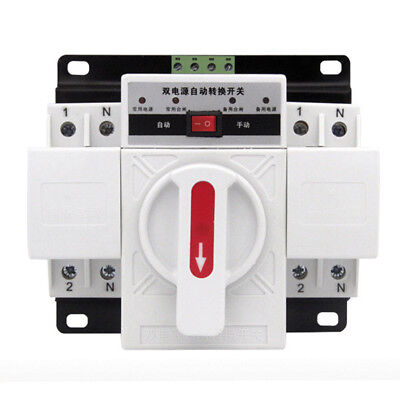 150*137*118mm 2P 50HZ/60HZ M6 Dual Power Automatic Transfer Switch Hot Sale