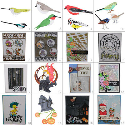 Christmas Birds Metal Cutting Dies Stencil DIY Scrapbooking Album Paper Card Art