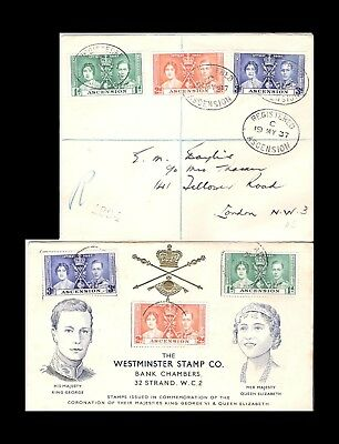 1937 ASCENSION CORONATION COVERS (x2) (JF)