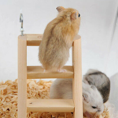 1 Pc Hamster Chew Toys Wooden Hanging Climbing Ladder For Small Pet Mouse Mice