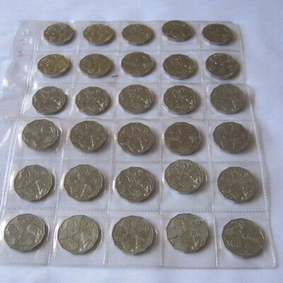 50c x 30 coins Captain Cook Fifty Cent Coin 1998 Australia free postage