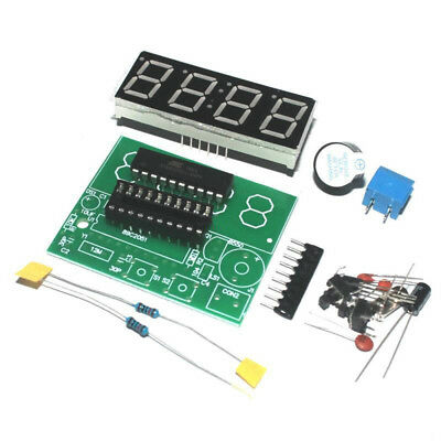 Digital 4 Bits Production Suite Clock DIY Kits Electronic C51