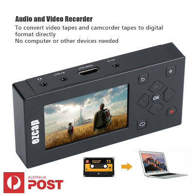 "3"" AV Recorder Audio Video Converter Convert VHS/Camcorder Tapes to Digital USB"