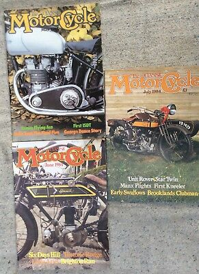 The Classic Motorcycle Magazine - May-Jul 1984 , 3 Issues , Collectors Items Fre