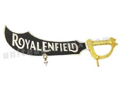 Royal Enfield Pure Brass No.plate Sword Sticker Cp Big By Rodela