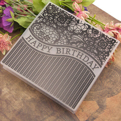 birthday Embossing folders Plastic Embossing Folder For Scrapbooking DIY card QP