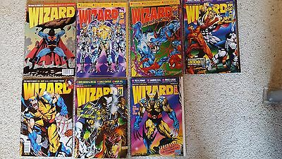 Wizard The Guide to Comics - 7 count lot -- from the 90's
