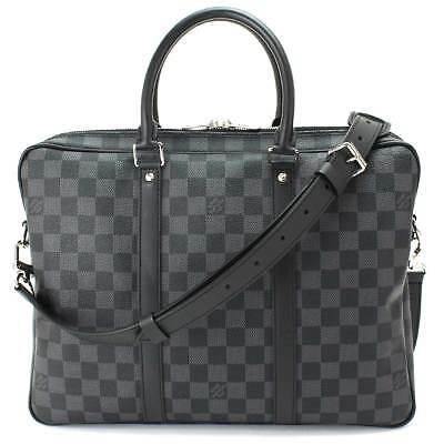 ffaf5e56dca6 Aurh LOUIS VUITTON Damier Graphite PDV PM Business Bag N41478 Purse 90058447