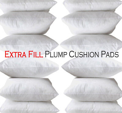 Cushion Pads Extreme Fill Plump Hollowfibre Inners Fillers Scatters - All Sizes