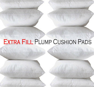 Hollowfibre Extreme Fill Plump Cushion Pads Inners Fillers Scatters All Sizes