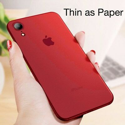 For IPhone XS MAX XR 7 8 Plus Clear Matte Ultra Thin Protective Case Clear Cover