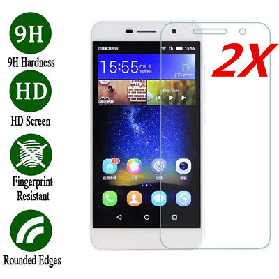 2x Premium Tempered Glass Screen Protector Film For Huawei Honor 6x 7 8 9 10